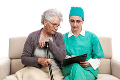 Old people medical examination Stock Photos