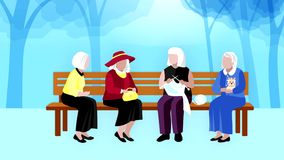 Old people outdoors video animation footage stock footage