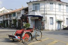 Old people rickshaw Royalty Free Stock Photo