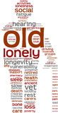 Old people tag cloud illustration Royalty Free Stock Photo