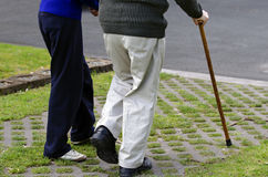 Old people walk Royalty Free Stock Photo