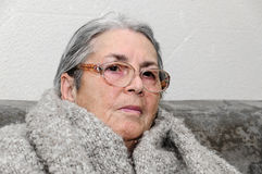 Old people woman portrait Royalty Free Stock Image