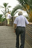 Old people2. A nice walk Royalty Free Stock Photo