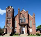 Old Peoria Church. This is a Fall picture of the old St. Patrick Catholic Church located in Peoria, Illinois. The iconic Gothic structure was built in 1881, and stock photos