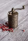 Old Pepper grinder mill Stock Image