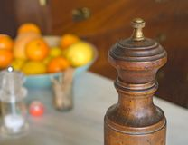Old pepper mill Stock Image