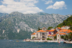 Old Perast town, Bay of Kotor Stock Image