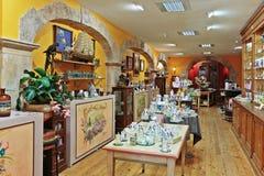 Old perfume shop Stock Photo