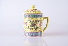 Old persian jar. Old persian hand made jar or cup stock photo