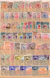 Old Persian stamps background Stock Images