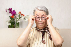 Old person glasses Royalty Free Stock Image