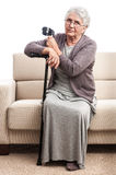 Senior person disabled at home Royalty Free Stock Image