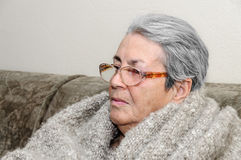 Old person senior woman portrait Royalty Free Stock Photos