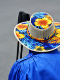 Old Person Wearing Colorful Hat Royalty Free Stock Photo