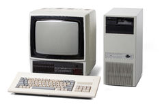 Old personal computer Stock Images