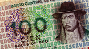 Old peruvian money Royalty Free Stock Photos