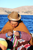 Old peruvian woman Stock Image