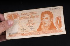 An old Argentinian banknote Royalty Free Stock Image