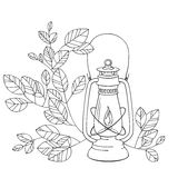 A Old petrol lamp with white background. A Old petrol lamp with white floral background Royalty Free Stock Photography