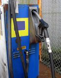 Old petrol pump. Still in use industrial stock photo