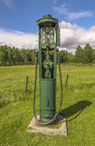 Old petrol pump. How we used to live! An old gas petrol pump stock photos