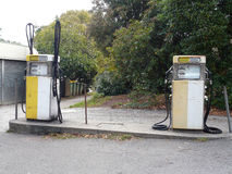 Old petrol pumps in Australia Stock Photo
