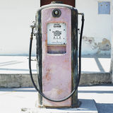 Old petrol station. In Holguin, Cuba royalty free stock photography