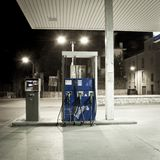 Old petrol station fuel Royalty Free Stock Image