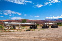Old petrol station in Moab. Stock Photos
