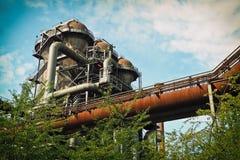 Old petroleum power plant buildings Stock Photos