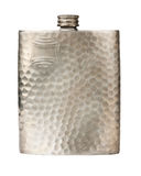 Old pewter flask Stock Image