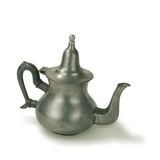 Old Pewter Touareg Tea Pot Stock Images