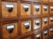 Old pharmacist cabinet royalty free stock photo