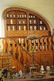 Old Pharmacy. Beautiful old pharmacy in a medieval castle in Germany stock image