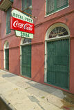 Old Pharmacy with Coke sign in French Quarter of New Orleans, Louisiana Royalty Free Stock Photography