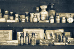 Old pharmacy. Museum in 1730. Photography allowed stock photo