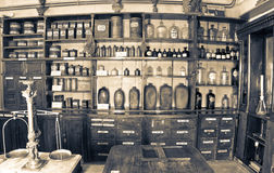 Old pharmacy Stock Image