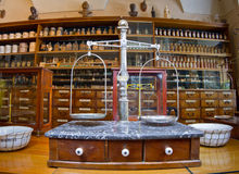 Old pharmacy. Museum in 1730. Photography allowed royalty free stock photos