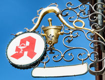 Old pharmacy sign in germany Royalty Free Stock Photography