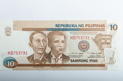 Old Philippines banknotes money Royalty Free Stock Photos
