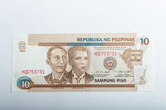 Old Philippines banknotes money Stock Images