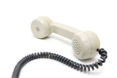 Old Phone. Old telephone on a white background Stock Photos