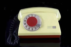 Old Phone. On a black background Royalty Free Stock Photo