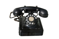 Old phone. A brown old  phone on white background Stock Images