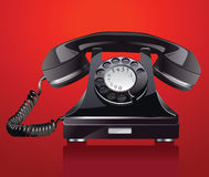 Old phone. Raster version of vector illustration + EPS additional format Stock Photo