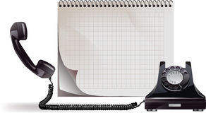 Old phone. All elements and textures are individual objects. Vector illustration scale to any size Stock Photography