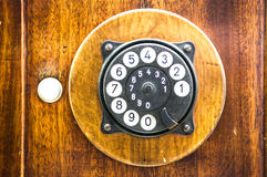 Old phone. Old telephone - nice close up Royalty Free Stock Photography
