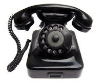 Old Phone. Old Black Phone isolited on white Stock Images
