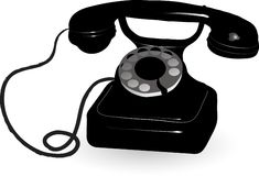 Old phone Stock Photos