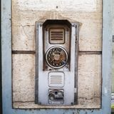 Old phone booth in southern Italy Stock Image